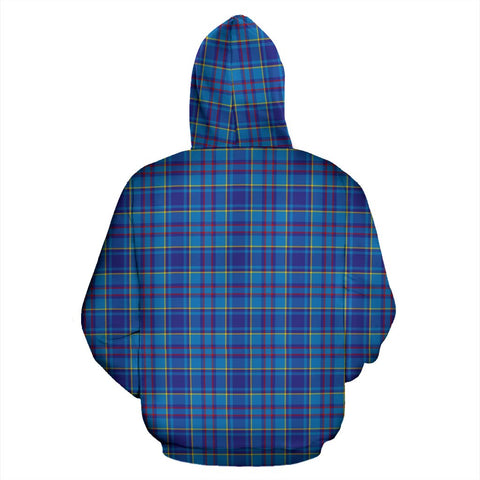 ScottishShop Mercer Tartan Clan Badge Hoodie