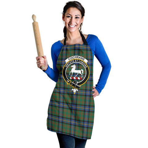 Image of Tartan Apron - Cochrane Ancient Apron With Clan Crest HJ4