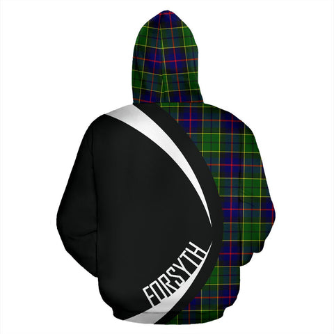Image of ScottishShop Tartan Zip Up Hoodie - Clan Forsyth Modern Hoodie - Circle Style