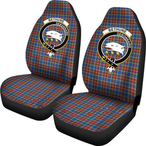 Bethune Tartan Car Seat Covers Clan Badge