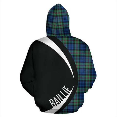 Image of ScottishShop Tartan Zip Up Hoodie - Clan Baillie Ancient Hoodie - Circle Style