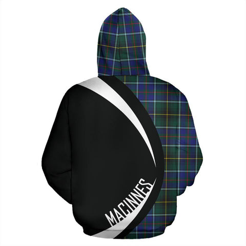 Image of Tartan Zip Up Hoodie - Clan Macinnes Modern Zip Up Hoodie - Circle Style Unisex