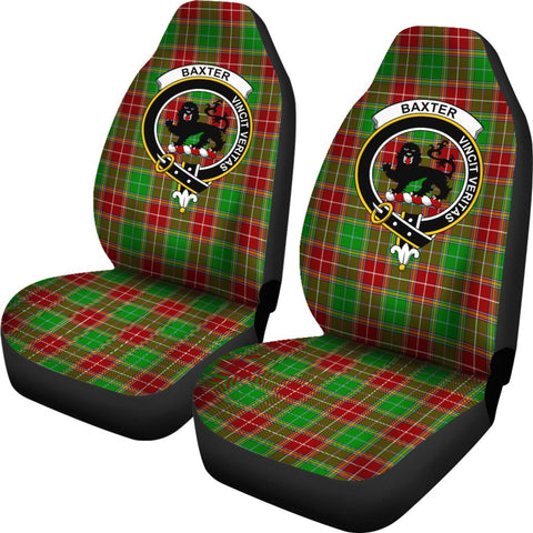Baxter Tartan Car Seat Covers Clan Badge