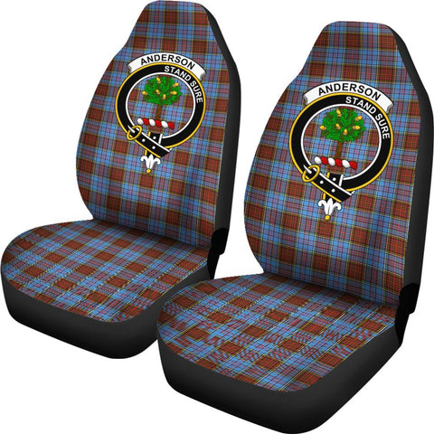 Anderson Tartan Car Seat Covers Clan Badge