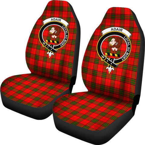 Adair Tartan Car Seat Covers Clan Badge