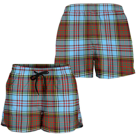 Image of Anderson Ancient Tartan Shorts For Women Th8