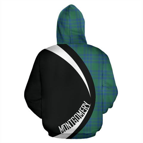 ScottishShop Tartan Zip Up Hoodie - Clan Montgomery Ancient Hoodie - Circle Style