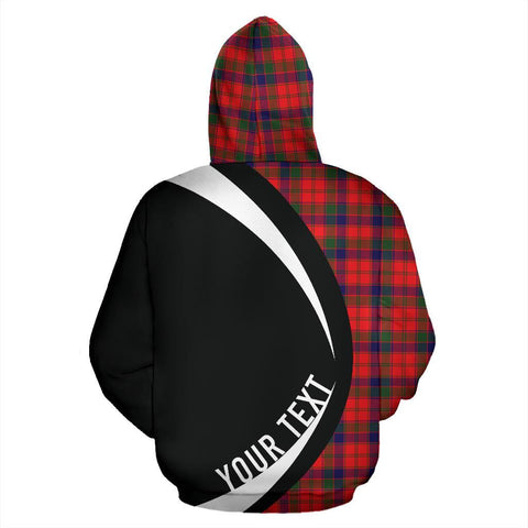 Custom Hoodie - Clan Robertson Modern Plaid Tartan Zip Up Hoodie Design Your Own - Circle Style - Unisex Sizing
