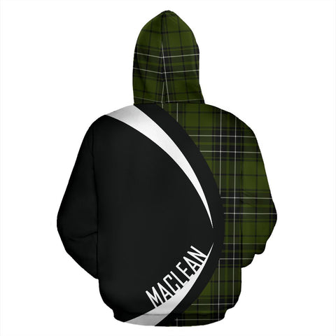 Tartan Zip Up Hoodie - Clan Maclean Hunting Zip Up Hoodie - Circle Style Unisex