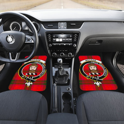 Image of Car Floor Mats - Clan Macnab Modern Crest And Plaid Tartan Car Mats - 4 Pieces