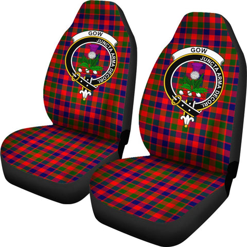 Gow Of Skeoch Tartan Car Seat Covers - Clan Badge