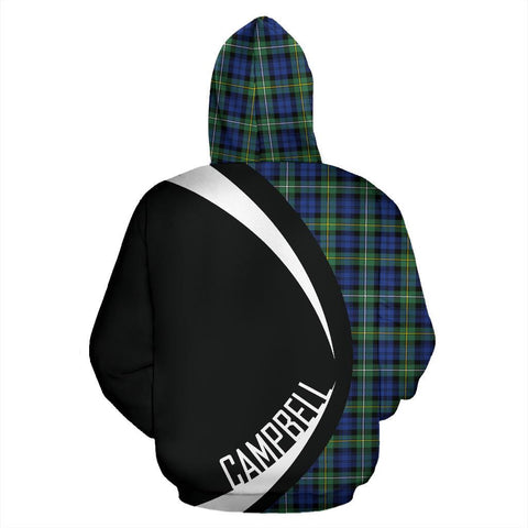 Image of Tartan Zip Up Hoodie - Clan Campbell Argyll Ancient Zip Up Hoodie - Circle Style Unisex