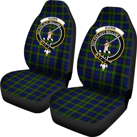 Gunn Modern Tartan Car Seat Covers - Clan Badge