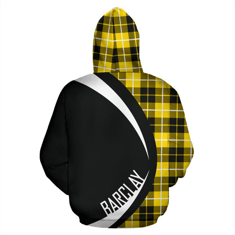 Image of ScottishShop Tartan Zip Up Hoodie - Clan Barclay Dress Modern Hoodie - Circle Style