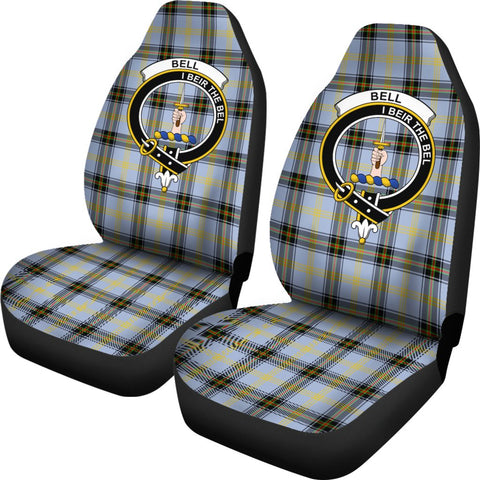 Bell Tartan Car Seat Covers - Clan Badge