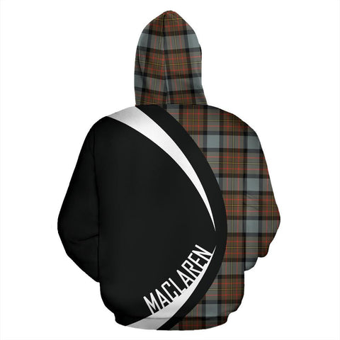 ScottishShop Tartan Zip Up Hoodie - Clan Maclaren Weathered Hoodie - Circle Style