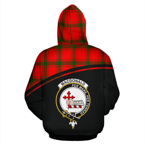 MacDonald of Sleat Tartan Custom Personalised Hoodie - Curve Style Back