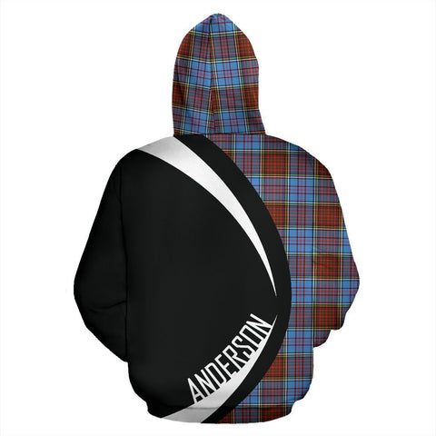 Image of Tartan Zip Up Hoodie - Clan Anderson Modern Zip Up Hoodie - Circle Style Unisex