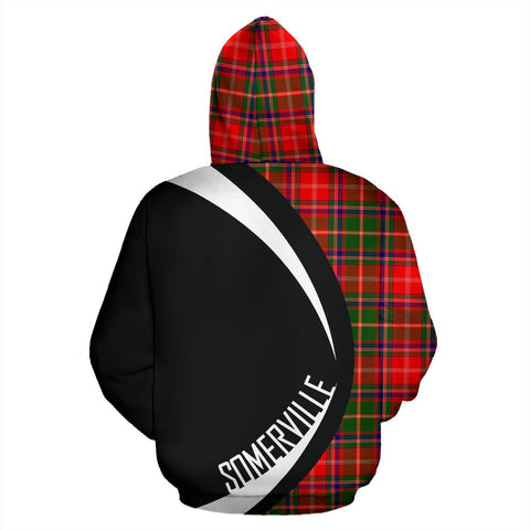 ScottishShop Tartan Zip Up Hoodie - Clan Somerville Modern Hoodie - Circle Style