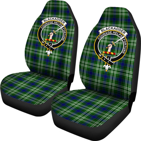 Blackadder Tartan Car Seat Covers Clan Badge
