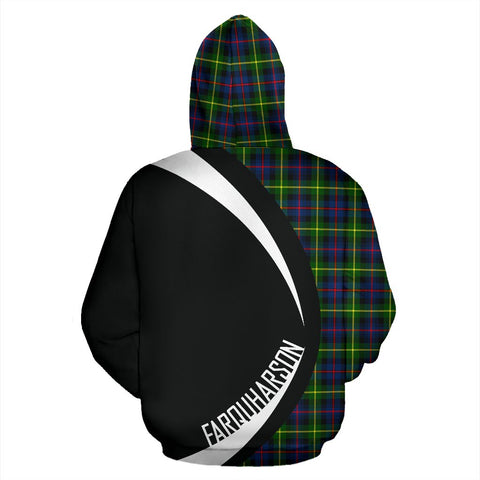 Image of ScottishShop Tartan Zip Up Hoodie - Clan Farquharson Modern Hoodie - Circle Style