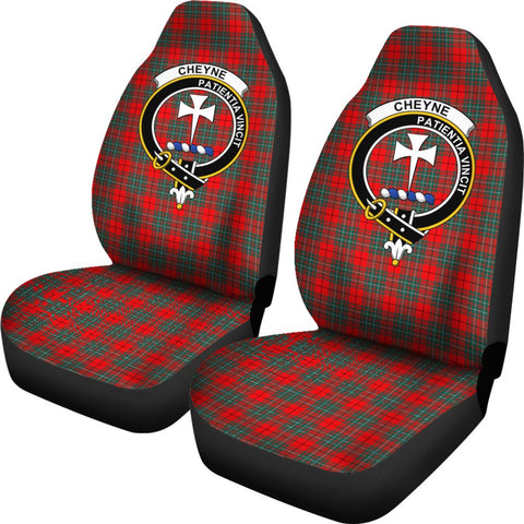 Cheyne Tartan Car Seat Covers Clan Badge