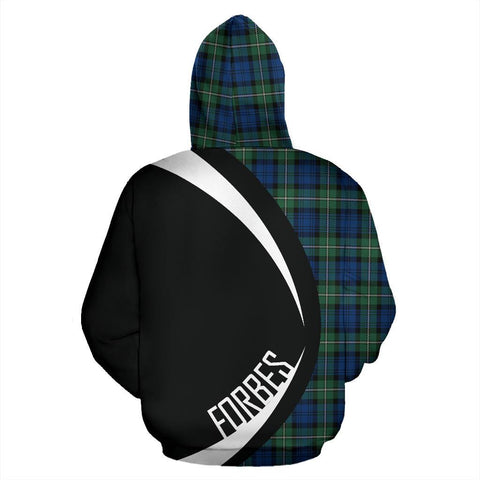 ScottishShop Tartan Zip Up Hoodie - Clan Forbes Ancient Hoodie - Circle Style