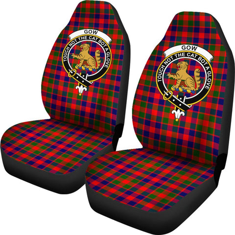 Gow Of Mcgouan Tartan Car Seat Covers - Clan Badge