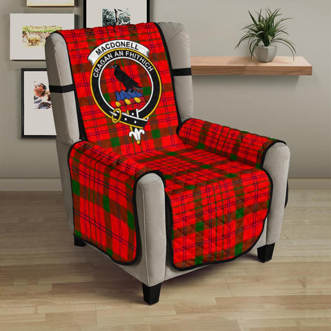 Clan MacDonnell of Keppoch Modern Plaid & Crest Tartan Sofa Protector - 23 Inches