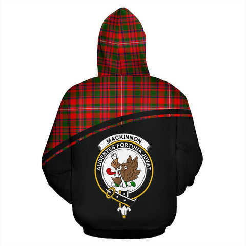 MacKinnon Tartan Custom Personalised Hoodie - Curve Style Back