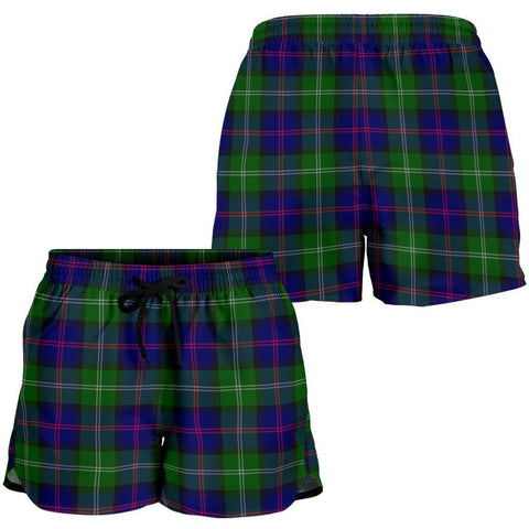 Macthomas Modern Tartan Shorts For Women Th8