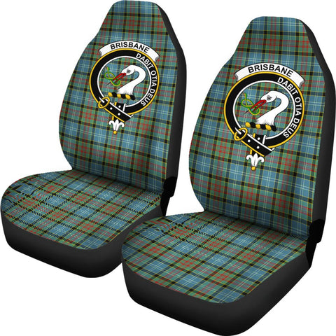 Brisbane Tartan Car Seat Covers Clan Badge