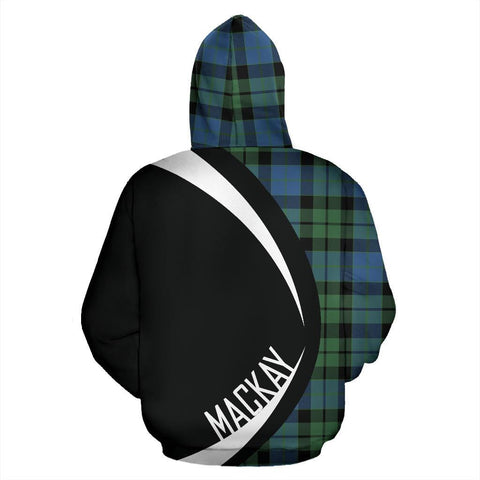 Tartan Zip Up Hoodie - Clan Mackay Ancient Zip Up Hoodie - Circle Style Unisex
