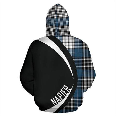 Image of ScottishShop Tartan Zip Up Hoodie - Clan Napier Modern Hoodie - Circle Style