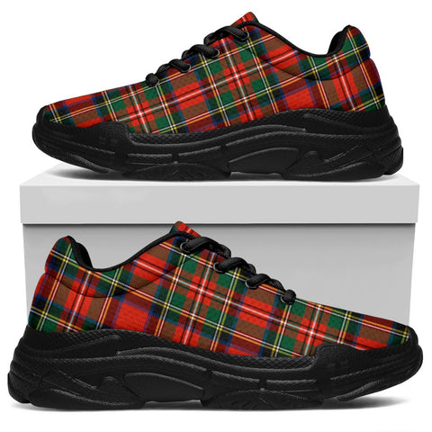 Chunky Sneakers - Tartan Stewart Royal Modern Shoes