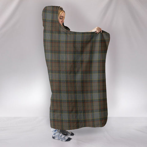 Image of Outlander Fraser, hooded blanket, tartan hooded blanket, Scots Tartan, Merry Christmas, cyber Monday, xmas, snow hooded blanket, Scotland tartan, woven blanket