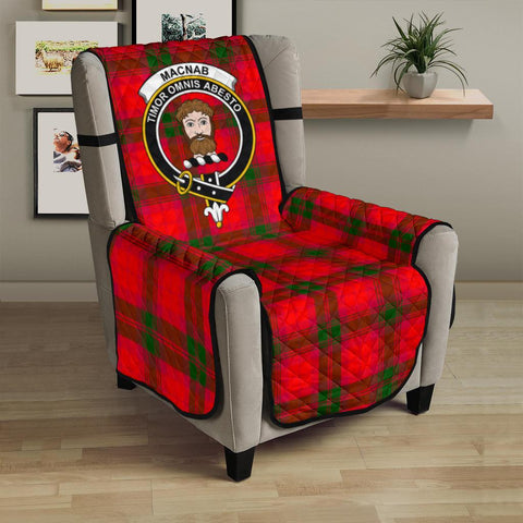 Clan MacNab Modern Plaid & Crest Tartan Sofa Protector - 23 Inches