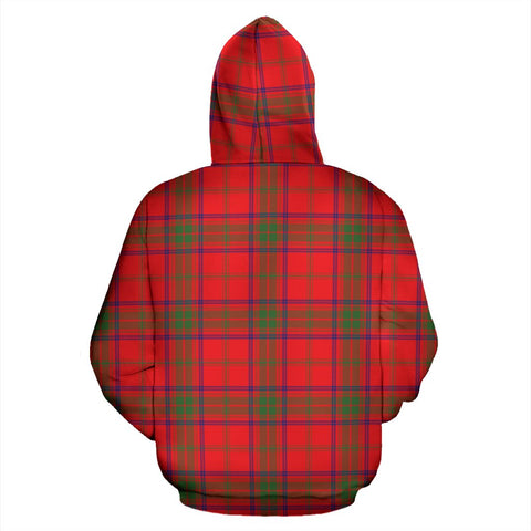 Image of ScottishShop Ross Tartan Clan Badge Hoodie