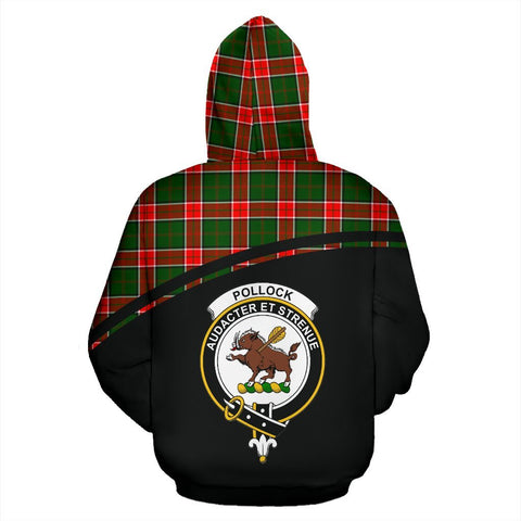 Image of Pollock Tartan Custom Personalised Hoodie - Curve Style Back