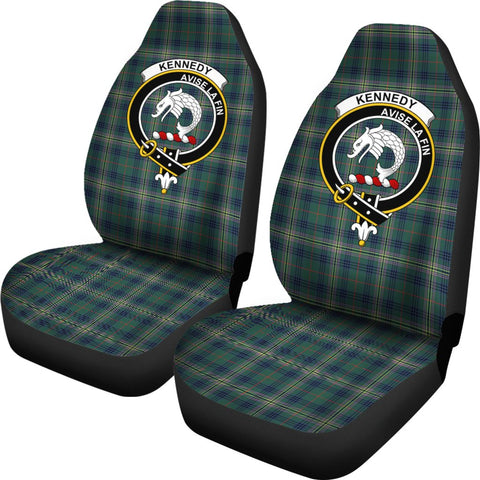 Kennedy Tartan Car Seat Covers Clan Badge