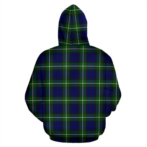 Image of Forbes Tartan Clan Badge Hoodie HJ4