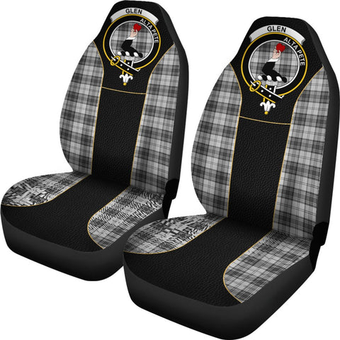 ScottishShop Seat Cover - Tartan Crest Glen Tartan Car Seat Cover Clan Badge - Special Version - Universal Fit