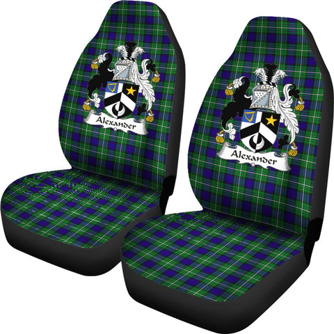 Alexander Tartan Car Seat Covers Clan Badge