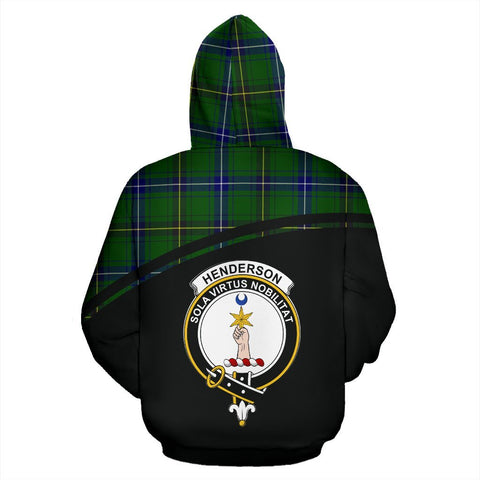 Image of Henderson Tartan Custom Personalised Hoodie - Curve Style Back