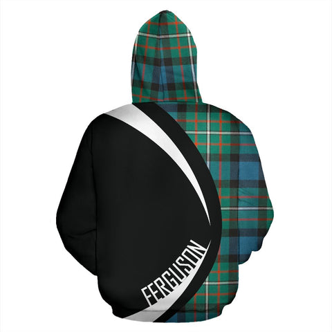 Tartan Zip Up Hoodie - Clan Ferguson Ancient Zip Up Hoodie - Circle Style Unisex