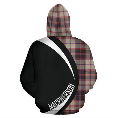Tartan Zip Up Hoodie - Clan Macpherson Hunting Ancient Zip Up Hoodie - Circle Style Unisex