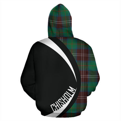 ScottishShop Tartan Zip Up Hoodie - Clan Chisholm Hunting Ancient Hoodie - Circle Style