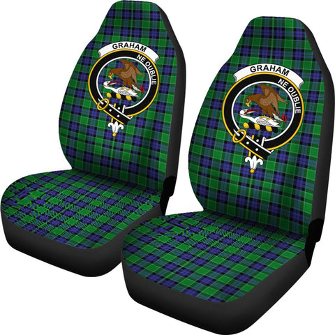 Graham Of Menteith Modern Tartan Car Seat Covers - Clan Badge
