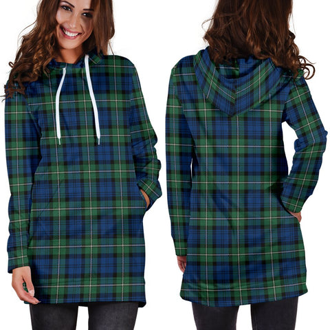 ScottishShop Hoodie Dress - Forbes Ancient Tartan Hooded Dress