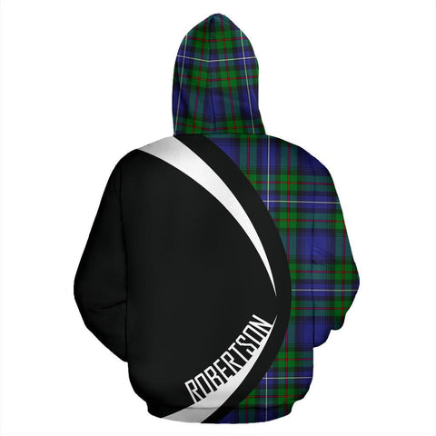 Image of ScottishShop Tartan Zip Up Hoodie - Clan Robertson Hunting Modern Hoodie - Circle Style